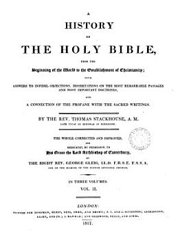 A history of the holy Bible  corrected and improved by G  Gleig PDF
