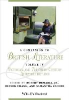 A Companion to British Literature  Volume 4 PDF
