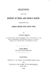 Selections from the History of India and Bāgh-o Bahār