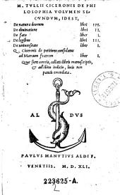 M. Tvlii Ciceronis de Philosophia