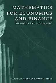 Mathematics for Economics and Finance PDF