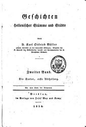 Geschichten hellenischer Stämme und Städte: Band 2