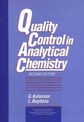 Quality Control in Analytical Chemistry PDF