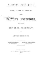 Annual Report of Factory Inspection Made to the General Assembly PDF