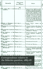 Correspondence Relative to the Fisheries Question, 1885-87: Presented to Parliament by Command of His Excellency the Governor General, 3rd May 1887