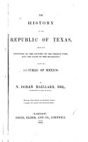 The History of the Republic of Texas PDF