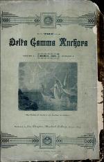 The Delta Gamma Anchora, Mar. 1885