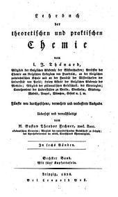 Lehrbuch der theoretischen und praktischen Chemie: in sechs Bänden. 6