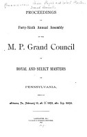 Proceedings of the     Annual Assembly of the Grand Council of Royal and Select Master Masons of Pennsylvania PDF