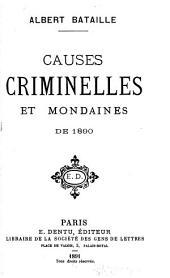 Causes criminelles et mondaines de...
