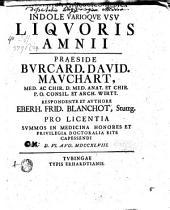 Diss. phys. med. de indole varioque usu liquoris amnii