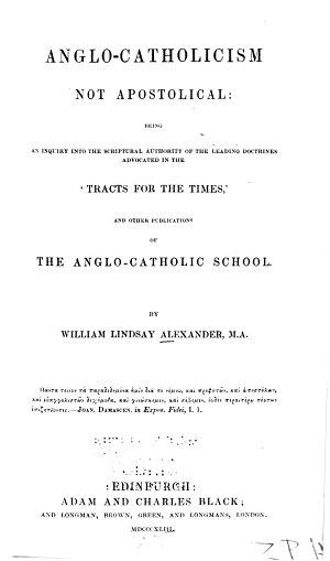 Anglo-Catholicism Not Apostolical