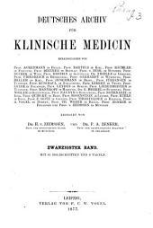 Deutsches Archiv für klinische Medizin: Band 20