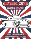 Classic Cars Coloring Book Vol. 1