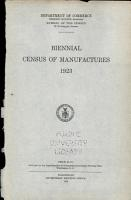 Biennial Census of Manufactures  1923 PDF