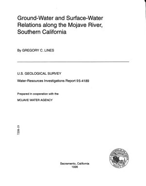 Ground-water and Surface-water Relations Along the Mojave River, Southern California