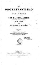 Del protestantismo y de todas las heregías: en su relación con el sociàlismo