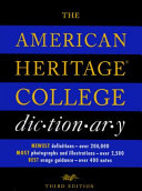 The American Heritage College Dictionary PDF