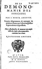 De la Demonomanie des sorciers... Par I. Bodin Angevin...