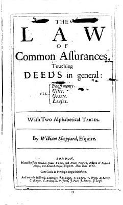 The Law of Common Assurances PDF