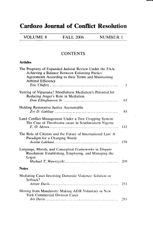 Cardozo Journal of Conflict Resolution