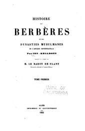 Histoire des Berbères et des dynasties musulmanes de l'Afrique Septentrionale: المجلد 1