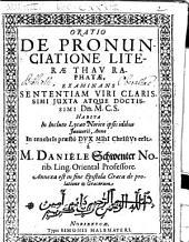 Oratio de pronuncitione literae Thauraphatae