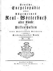 Deutsche Encyclopädie oder Allgemeines Real-Wörterbuch aller Künste und Wissenschaften: Jba - Jnz, Band 17