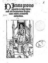 DIctata pro nominarijs in ludo legenicensi ab Bernhardino Bogentantz collecta ex diuersis authoribus