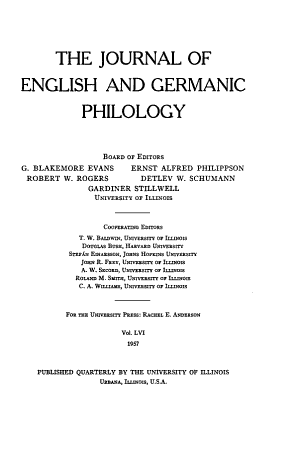 The Journal of English and Germanic Philology PDF