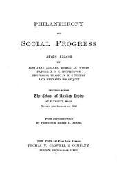 Philanthropy and Social Progress: Seven Essays