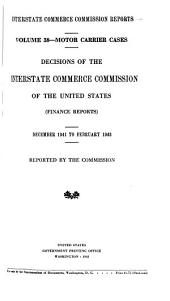 Interstate Commerce Commission Reports: Motor carrier cases, Volume 38