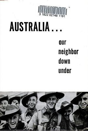 Australia  Our Neighbor  down Under