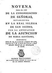 Novena ... de la Asunción de María Sma