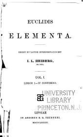 Euclidis Opera omnia: Volume 1