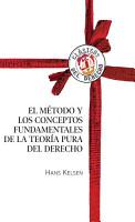 El m  todo y los conceptos fundamentales de la teor  a pura del Derecho PDF