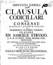 Disputatio Juridica De Clausula Codicillari