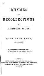 Rhymes and Recollections of a Hand-loom Weaver