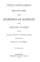 Annual Report on the Statistics of Railways in the United States PDF