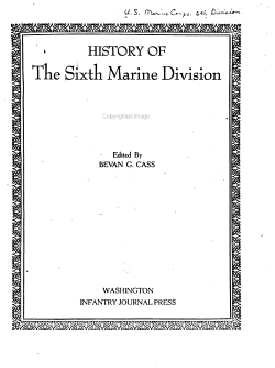 History of the Sixth Marine Division  Melanesia  Micronesia  Orient PDF