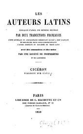 Cicéron. Dialogue sur l'amitié. (Expliqué littéralement, traduit en français et annoté par M. Legouëz.).