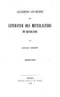 Allgemeine Geschichte der Literatur des Mittelalters im Abendlande PDF