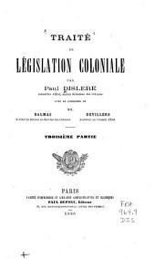 Traité de législation coloniale