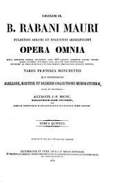 Patrologiae latina cursus completus ... series secunda: Volume 111