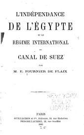 L'indépendance de l'Égypte et le régime international du canal de Suez