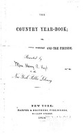 The Country Year book  Or  The Field  the Forest   the Fireside PDF