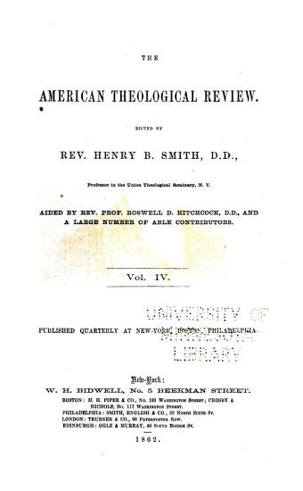 The American Theological Review PDF