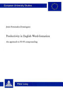 Productivity in English Word-formation
