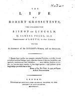 The Life of Robert Grosseteste
