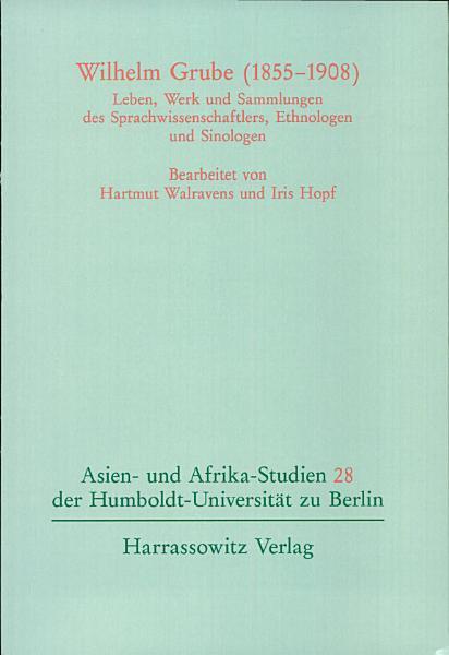 Wilhelm Grube  1855 1908